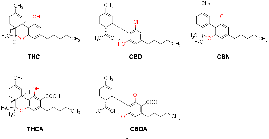 Cannabinoid Structures